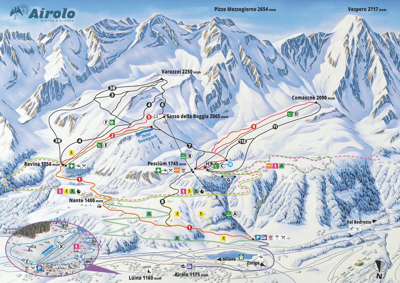 Mappa Airolo